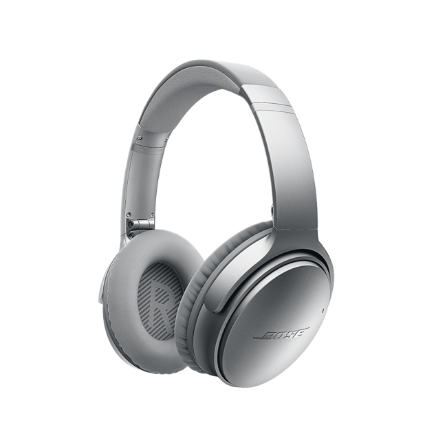 Bose Quiet-Comfort 35 Silver - Wireless Headphones